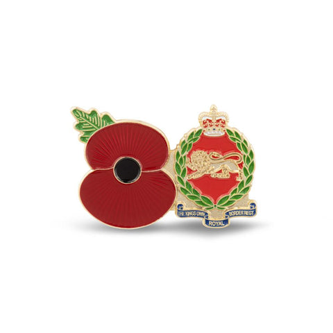 Service Poppy Pin Kings Royal Border Regiment