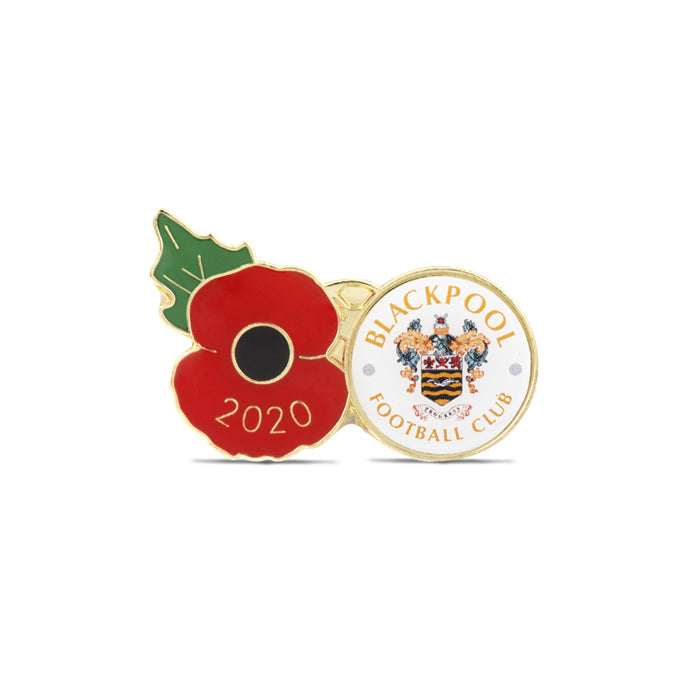 Blackpool Poppy Football Pin 2020