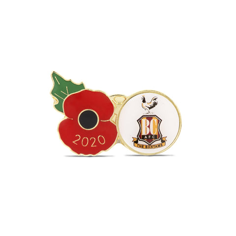 Bradford City Poppy Football Pin 2020