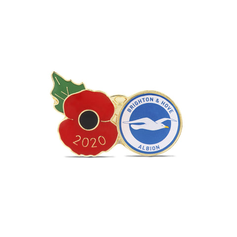 Brighton & Hove Albion Poppy Football Pin 2020
