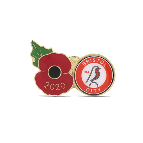 Bristol City Poppy Football Pin 2020