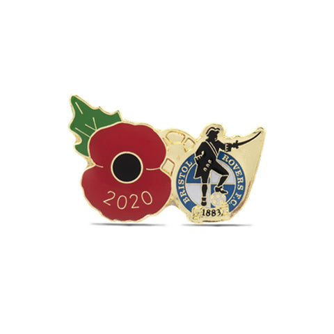 Bristol Rovers Poppy Football Pin 2020