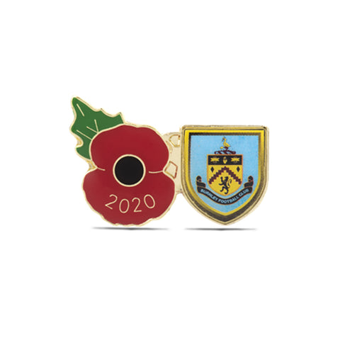 Burnley Poppy Football Pin 2020