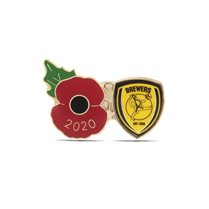 Burton Albion Poppy Football Pin 2020