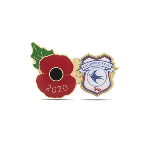 Cardiff City Poppy Football Pin 2020