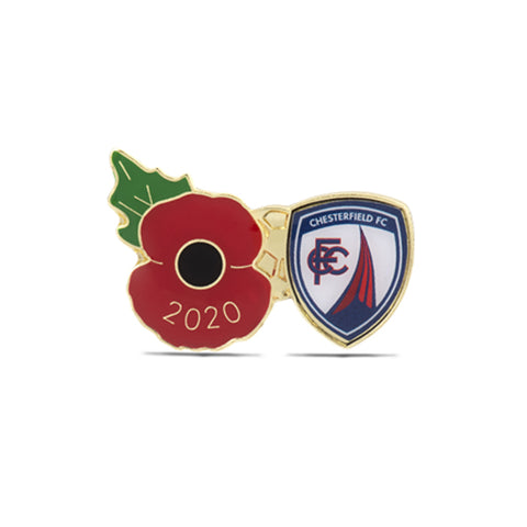 Chesterfield Poppy Football Pin 2020