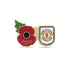 Crewe Alexandra Poppy Football Pin 2020