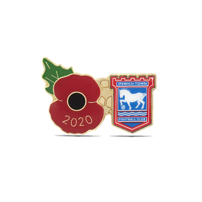 Ipswich Town Poppy Football Pin 2020