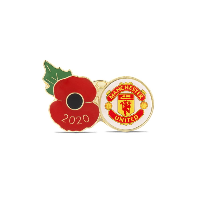 Manchester United Poppy Football Pin 2020