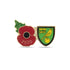 Norwich City Poppy Football Pin 2020