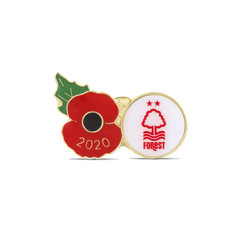 Nottingham Forest (White) Poppy Football Pin 2020