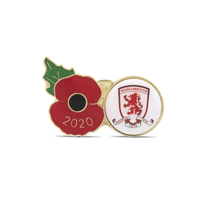 Middlesbrough Poppy Football Pin 2020