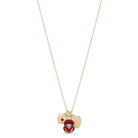 Home Is Where the Heart Is Poppy Charm Necklace