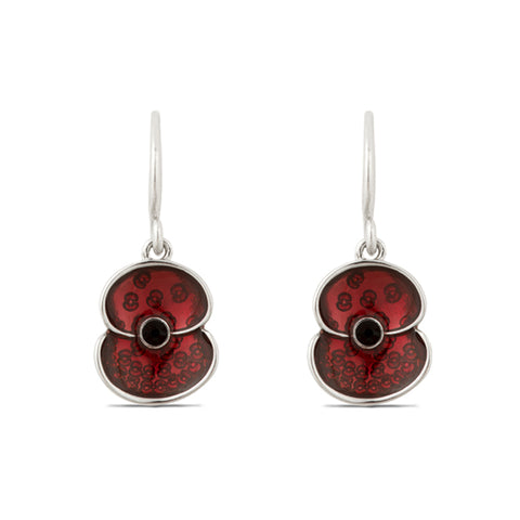 Fallen Never Forgotten Poppy Drop Earrings