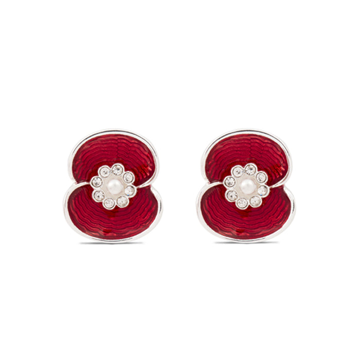 Poppy Crystal Pearl Earrings