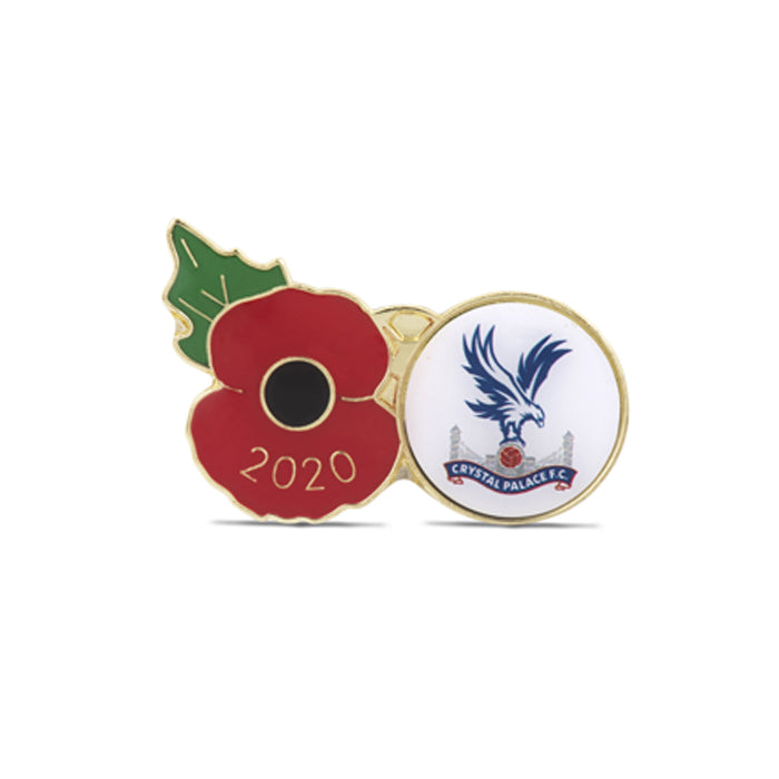 Crystal Palace Poppy Football Pin 2020