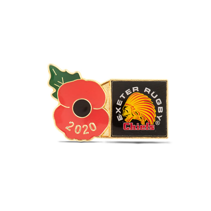 Exeter Chiefs Poppy Rugby Pin 2020