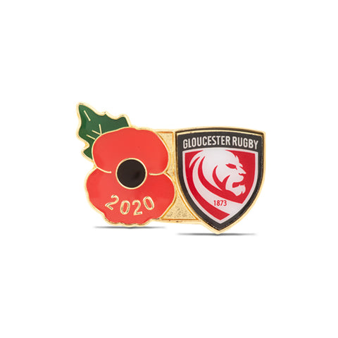 Gloucester Poppy Rugby Pin 2020