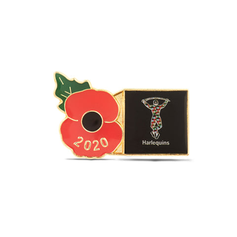 Harlequins Poppy Rugby Pin 2020