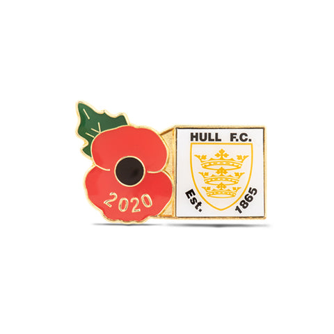 Hull FC Poppy Rugby Pin 2020