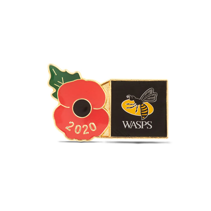 Wasps Poppy Rugby Pin 2020
