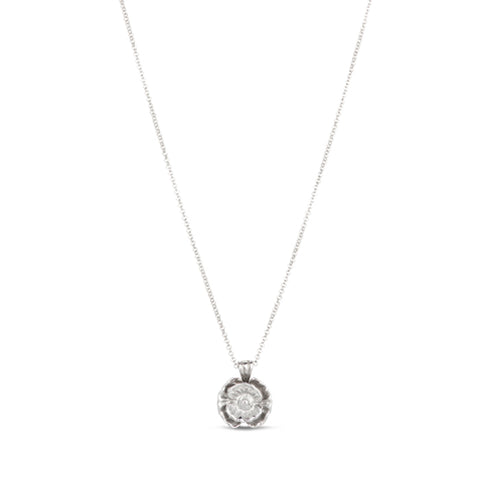 Spitfire Poppy Silver Necklace