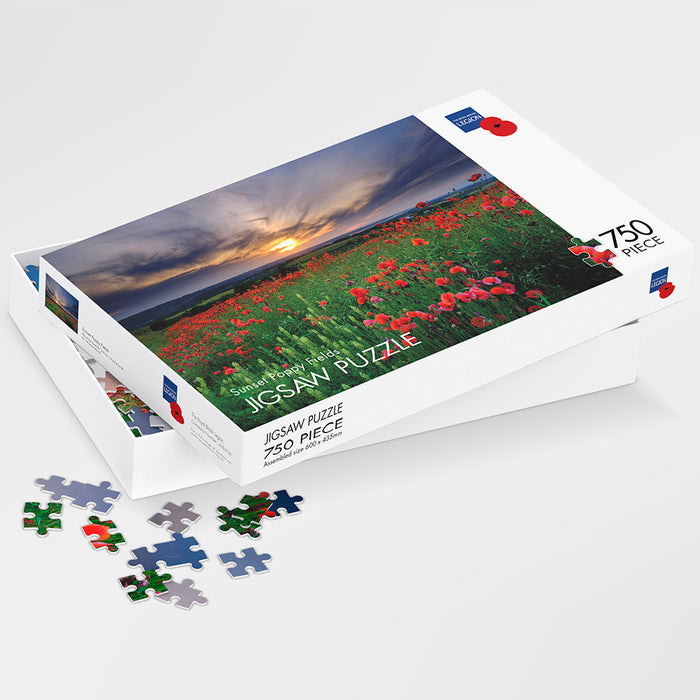 Sunset Poppy Fields Jigsaw Puzzle
