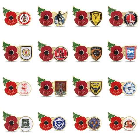 League One Poppy Football Pins 2020