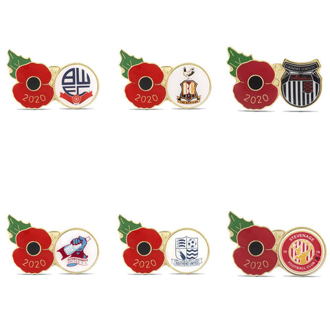League Two Poppy Football Pins 2020