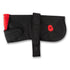 Poppy Embroidered Black and Red Dog Coat