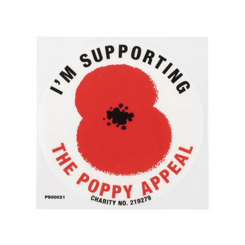 Poppy Car Sticker