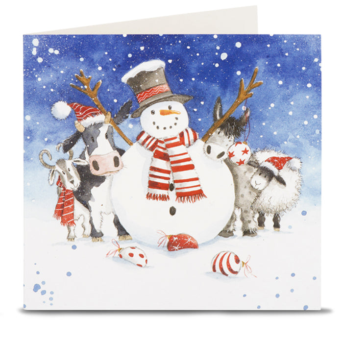 Snowman and Friends Christmas Cards