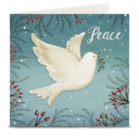 Dove Teal Christmas Cards