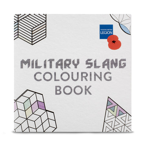 Geometric Military Slang Colouring Book