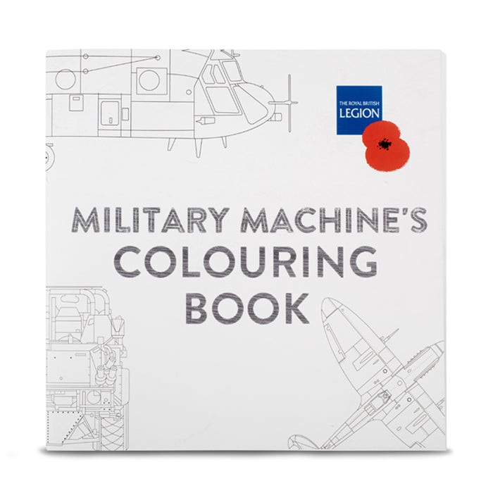 Military Machines Colouring Book