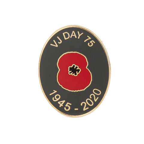 VJ Day 75 Lapel Pin