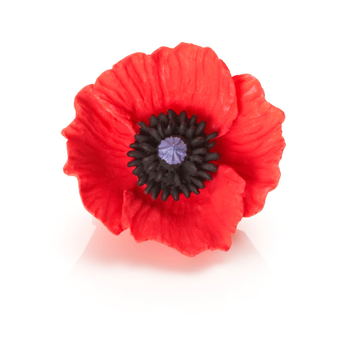 Small poppy brooch