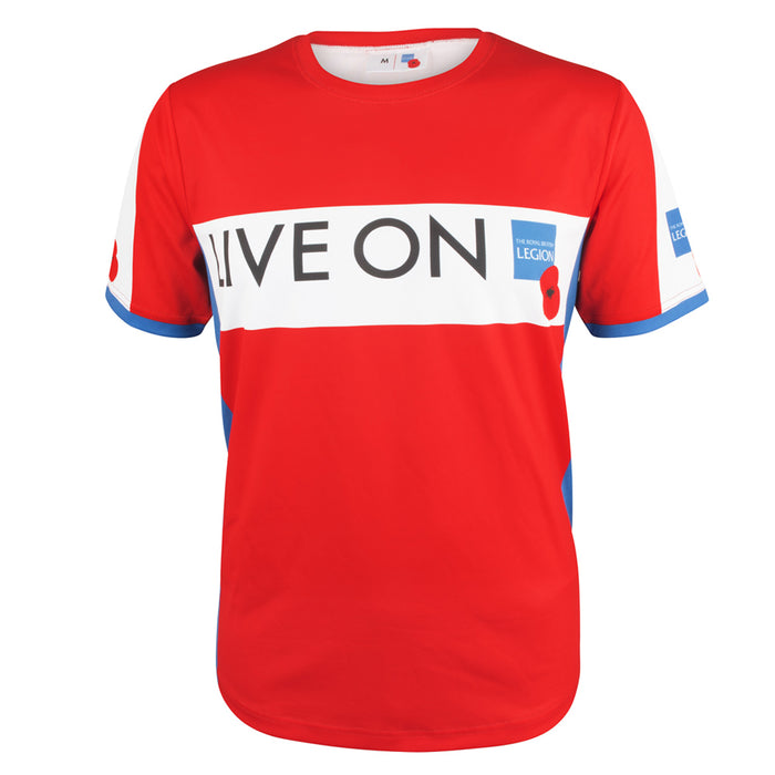 Live On Sports TShirt Red