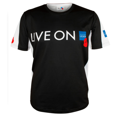 Women's Live On Sports TShirt Black