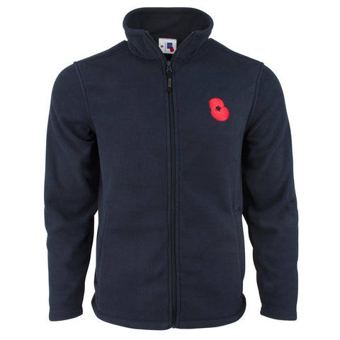 Navy Poppy Fleece