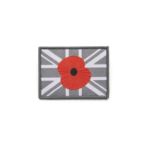 Grey Union Velcro Poppy Patch