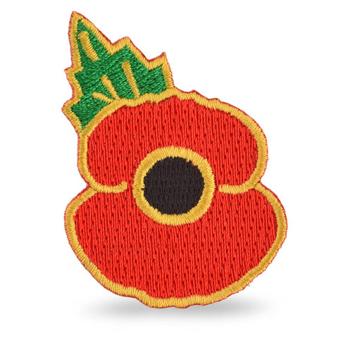 Sew or Iron on Poppy Patch