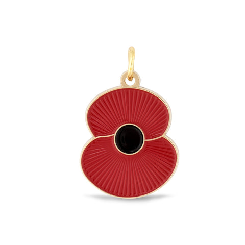 Ridged Poppy Pet Tag - Medium