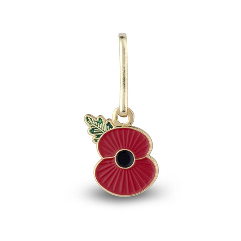 Ridged Poppy Clip On Zip Puller