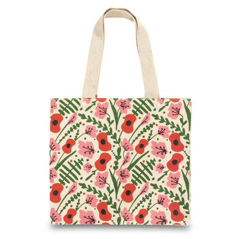 Floral and Fern Cotton Bag