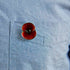 The Poppy Collection ® Enamel Pin Gold Tone
