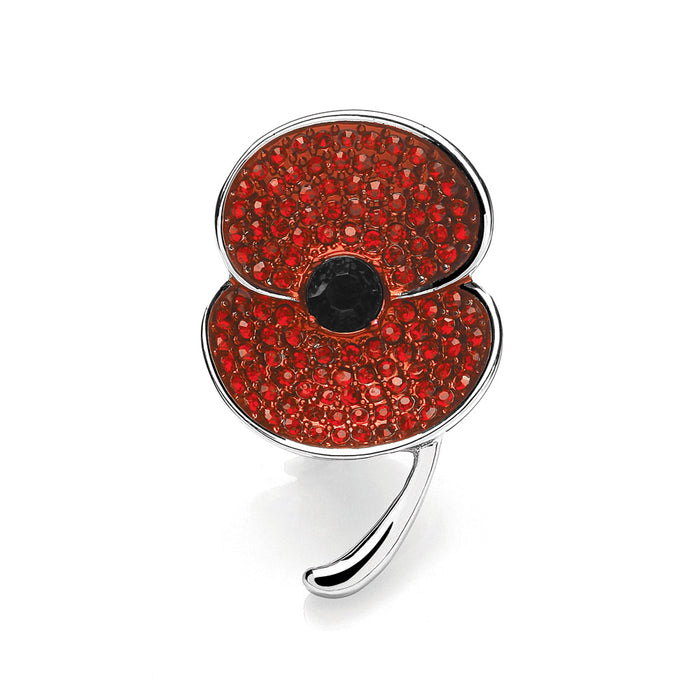 The Poppy Collection ® Medium Brooch Silver Tone