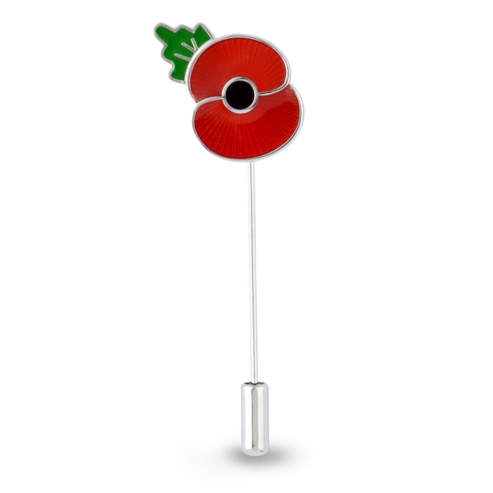 Poppy Lapel Stick Pin