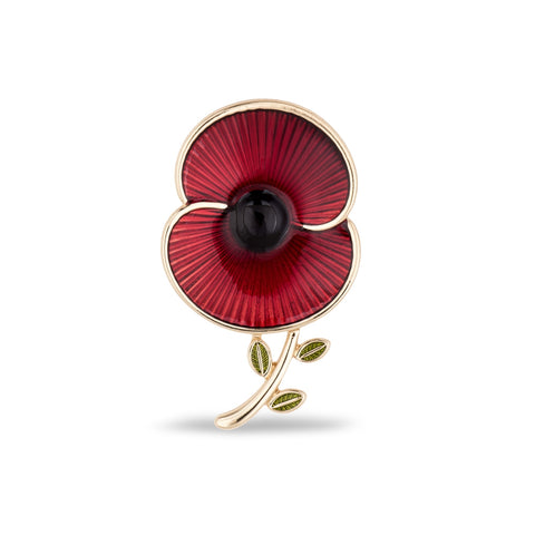 The Poppy Collection® Enamel and Leaf Brooch
