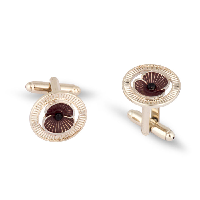 Patina Cufflinks Gold Tone